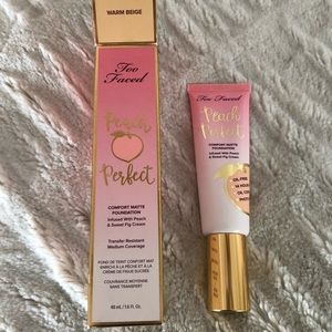 Peach perfect too faced foundation